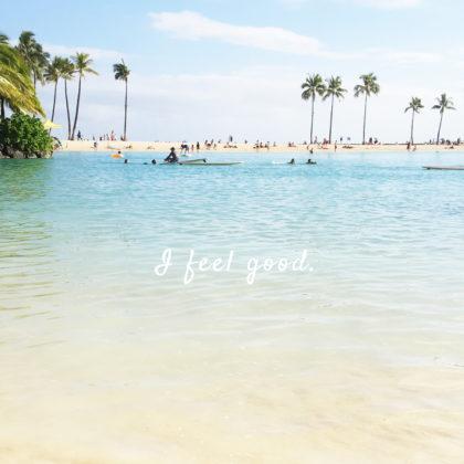 ハワイの海にて撮影