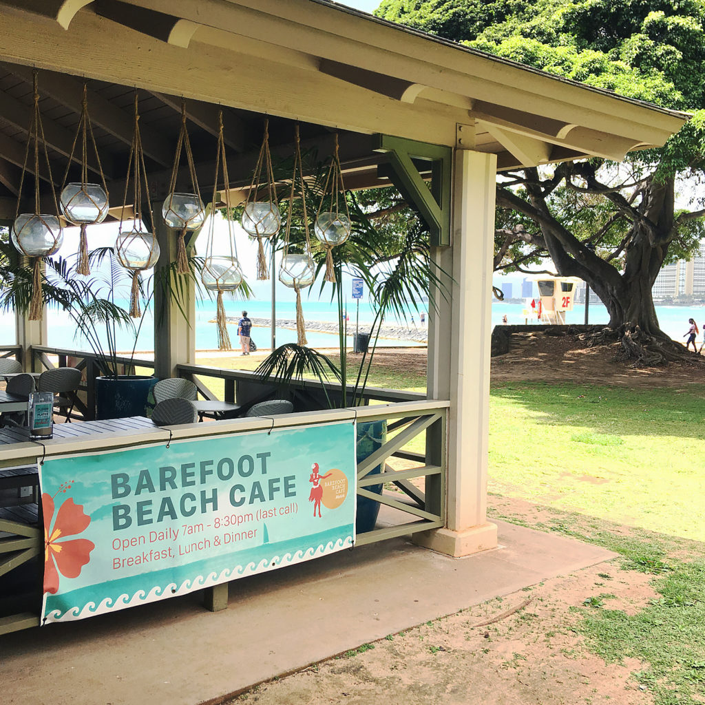 Barefoot Beach Cafeにて、写真撮影