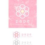 ときめき色のカゴバッグと雑貨屋のpape(パペ)さんロゴ